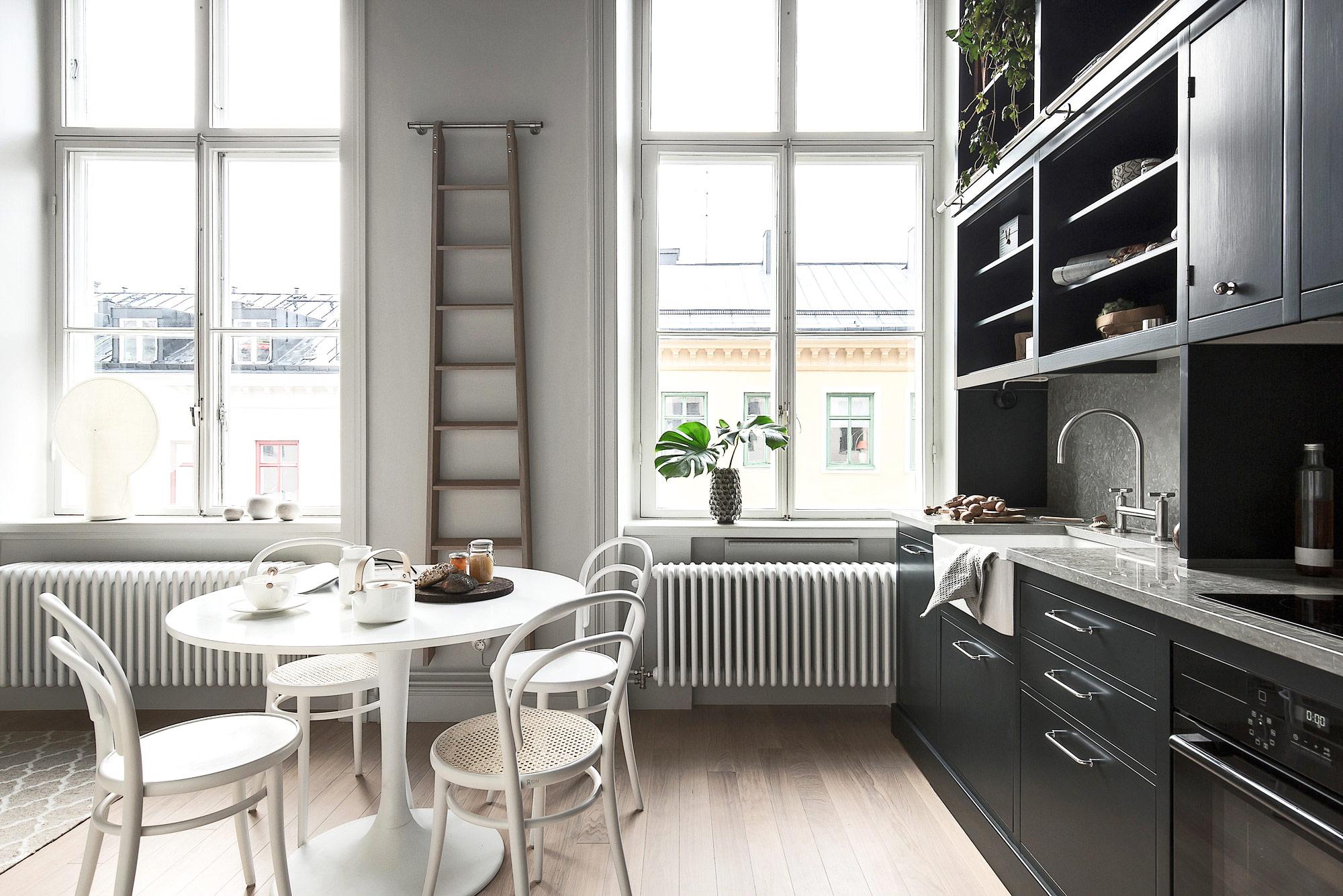 北欧风格单身公寓餐厨一体装修