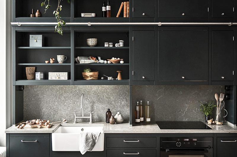北欧风格单身公寓整体橱柜设计图