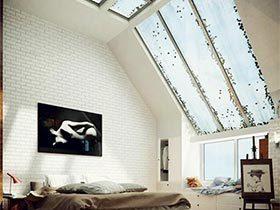 自然裸装  10个卧室裸砖背景墙效果图