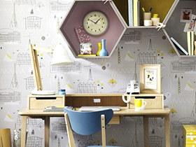 10个书房壁纸装修效果图 彰显完美气质