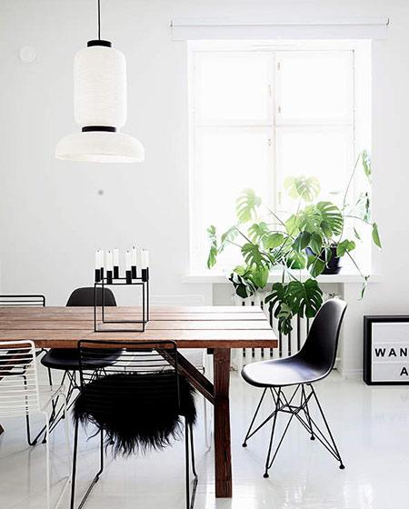 北欧风格公寓装修餐厅吊灯图片