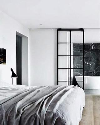 卧室卫生间玻璃门隔断