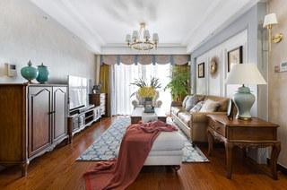 135平简美风格装修三居室设计