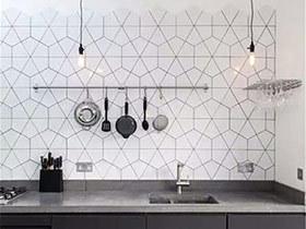 10个厨房瓷砖装修效果图 花样提升空间格调