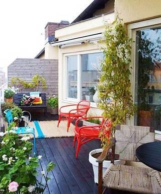 别墅花园阳台设计实景图