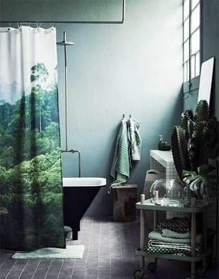 绿色系卫生间设计装修图片