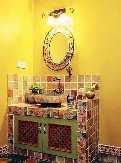 卫生间砖砌洗手池构造图