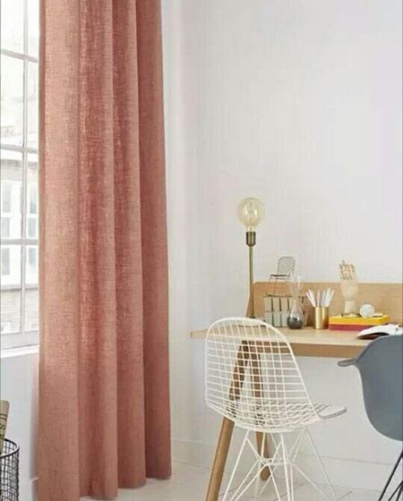 卧室素雅窗帘效果图片