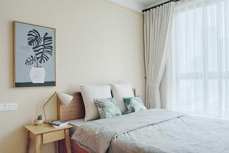 两居室装修次卧室平面图