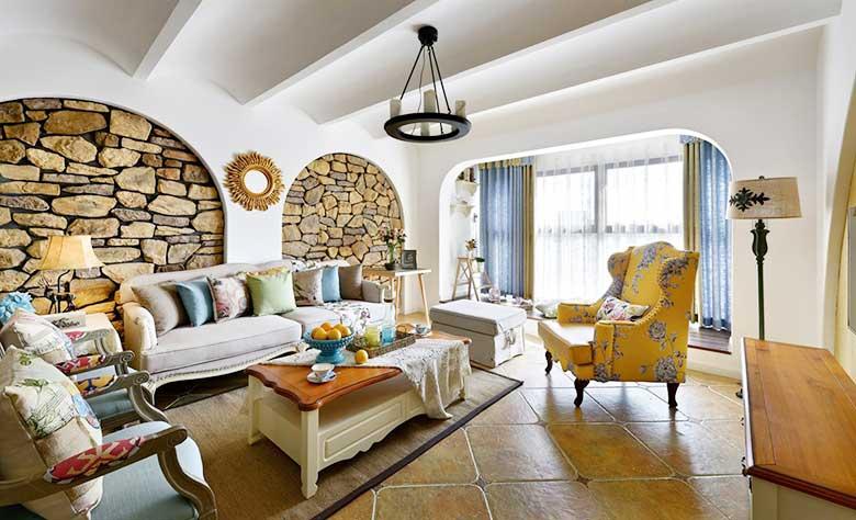 地中海混搭风两居室装修装饰效果图