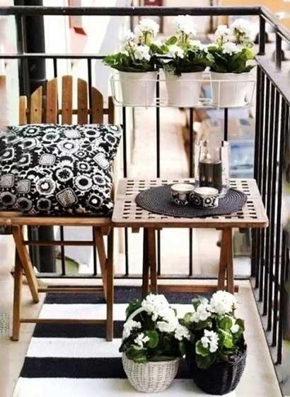 花园阳台桌椅设计图