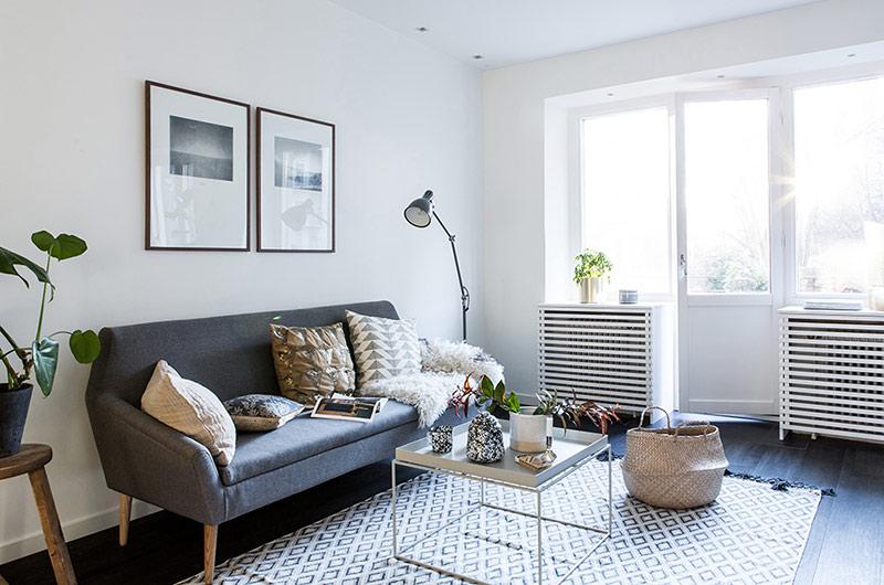 北欧风格一居室装修客厅设计