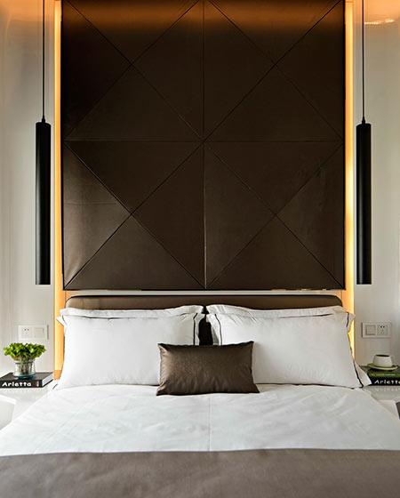 89平样板房装修卧室床头设计