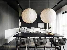黑白空间  10款黑白色餐厅装修图