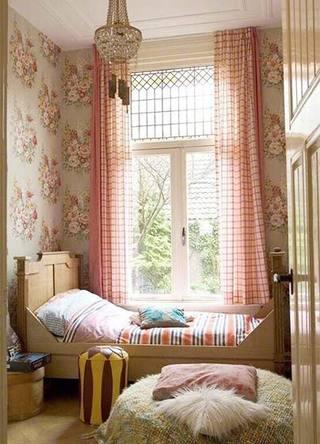 粉色书房榻榻米图片