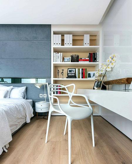 350平别墅装修卧室书桌图片