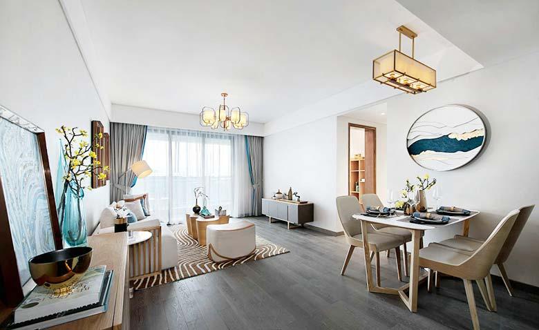 90㎡两居室餐桌平面图