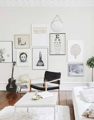 照片墙搭配设计实景图
