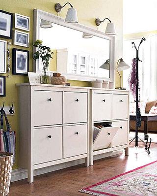 清爽 白色玄关柜设计图
