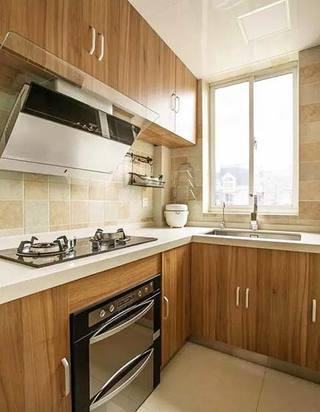 美式乡村两居室厨房设计布置图