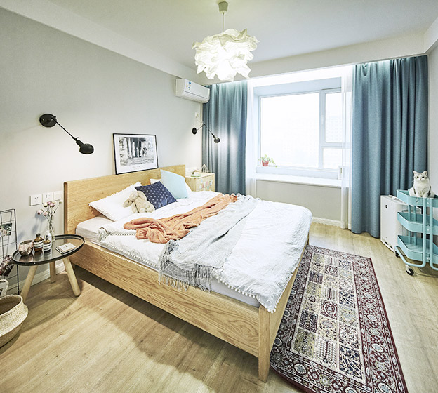 130㎡北欧风三居卧室图片大全