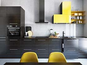 厨房一抹亮黄色  10款现代风厨房图片