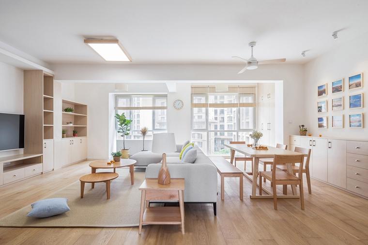 120平日式风格装修原木色家具图片