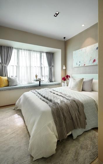 100平北欧风格装修效果图卧室效果图