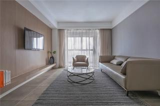 110平现代简约风格装修简约客厅效果图