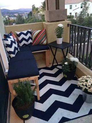 小户型阳台设计实景图