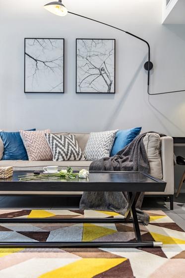 80平宜家风格装修沙发背景墙效果图
