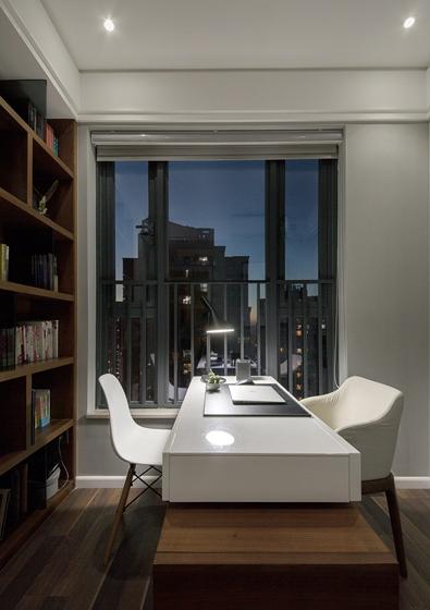 90平简约风格装修效果图书房效果图