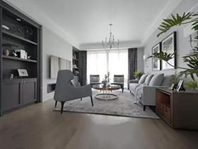 133㎡美式两室两厅装修图  温润如玉
