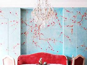 打造舒适环境   10款壁纸背景墙设计图