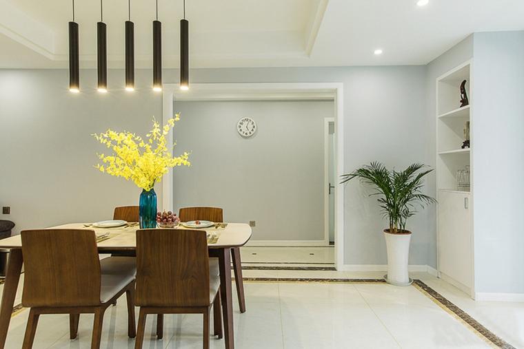 现代简约风格公寓装修餐厅效果图