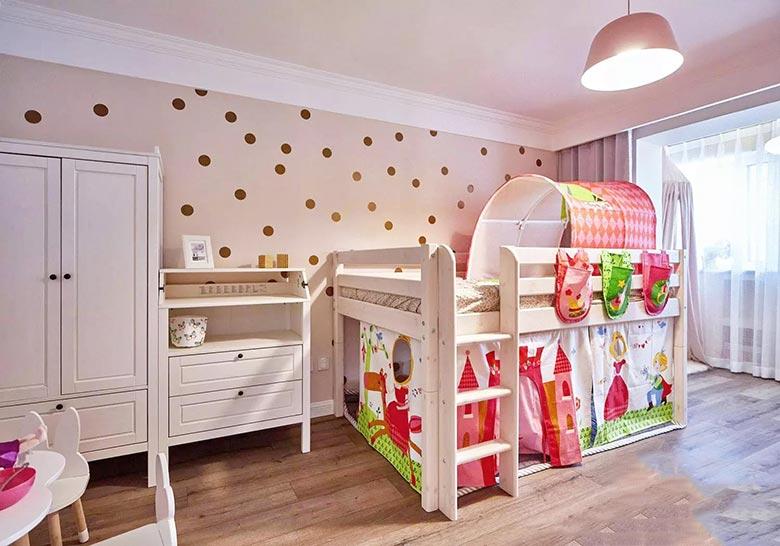 北欧风两室两厅儿童床装饰图