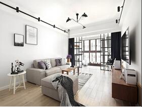 黑白调北欧风格装修效果图 简洁的两居室装修