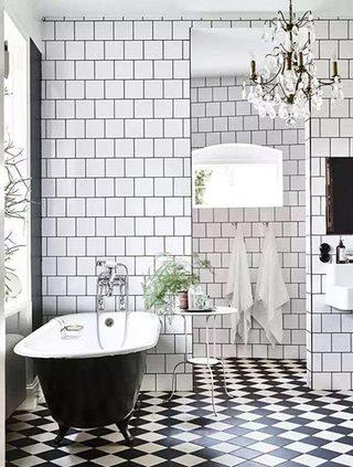 北欧风淋浴房背景墙图片