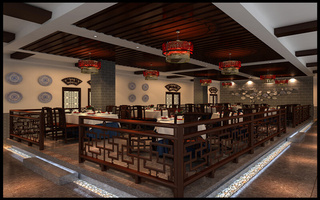 中式风菜馆装修效果图