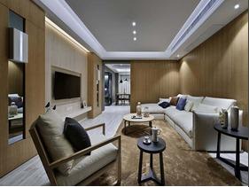 120平现代简约风格装修 观影木色最美家