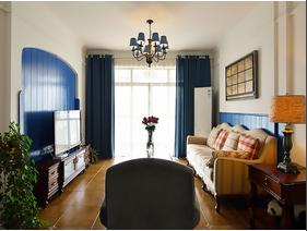 朴实的美式风格装修 10万半包三居室