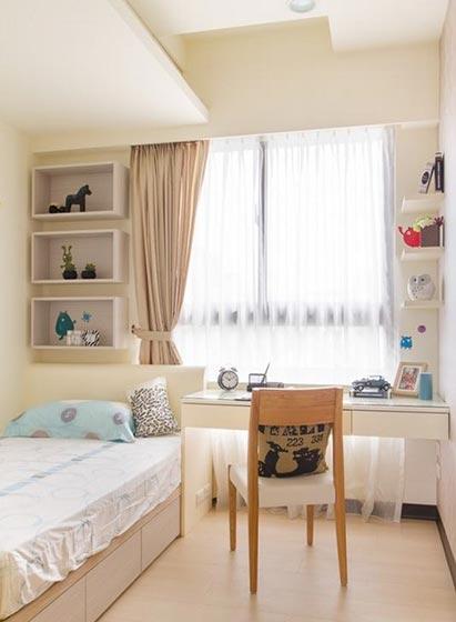 卧室书桌装修平面图