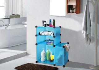 卫生间收纳箱布置摆放图
