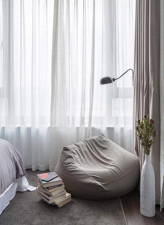 超凡脱俗两居室装修窗帘效果图