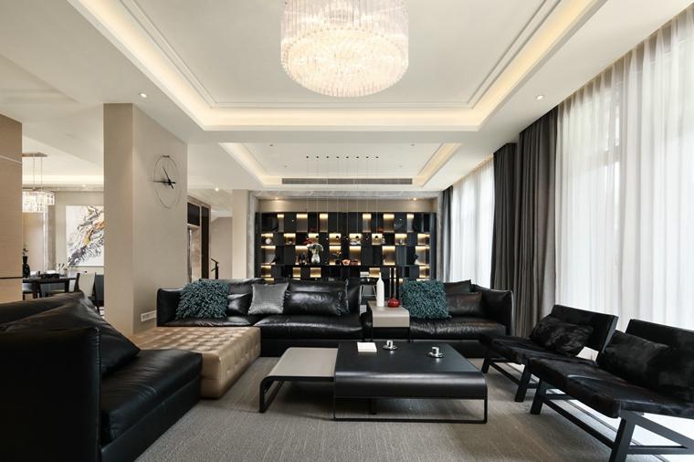 海派风格装修客厅效果图