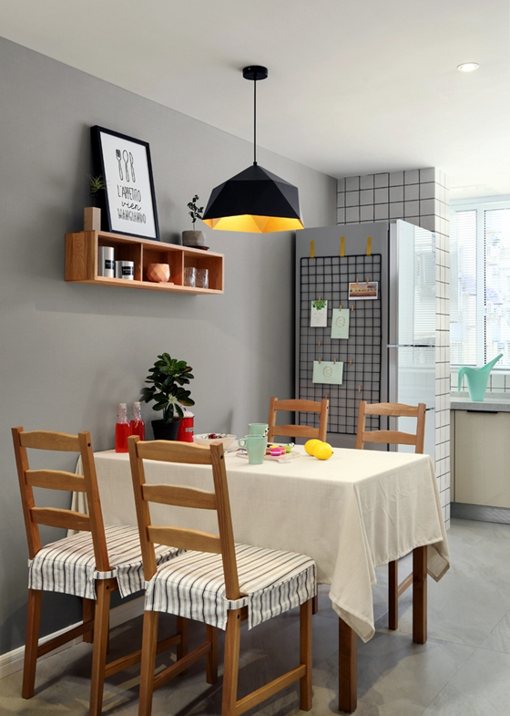 宜家风格公寓装修餐厅效果图