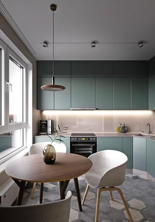 60㎡现代公寓厨餐厅装修效果图