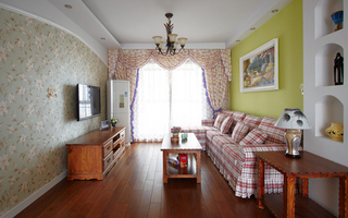 田园风格两居室装修效果图