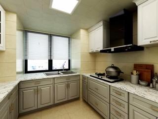 欧式古典别墅厨房装修效果图