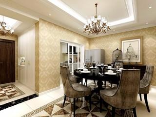 欧式古典别墅餐厅装修效果图